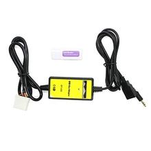 Envío gratis Nuevo 3.5mm Aux Cable de Audio Auxiliar Aux USB Adaptador de Coche Reproductor de MP3 Para Mazda 3/CX7/323/MX5 CX-7