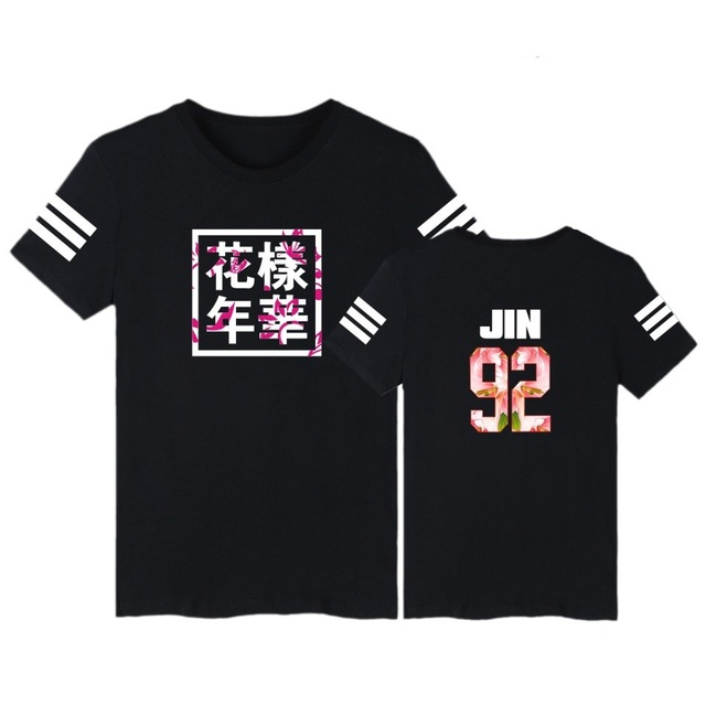 MULYEN BTS Kpop T Shirt Bangtan Boys T Shirt Men Women Summer BTS Number Letter Printed Casual Cotton T-shirts Plus Size Top Tee
