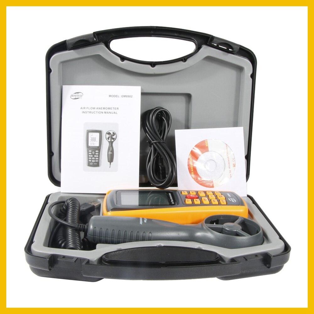 Anémomètre numérique compteur de vitesse du vent testeur de débit d'air mesurant 0 ~ 45 m/s avec thermomètre anémomètre portable USB GM8902-BENETECH - 6