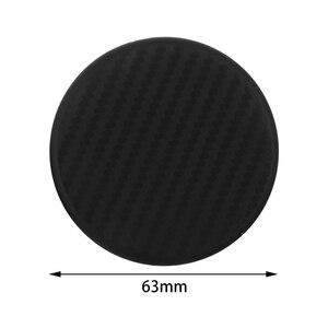 Image 5 - 2 pc silicone preto carro auto copo de água slot antiderrapante acessórios da esteira de fibra de carbono almofada protetora do carro acessórios interiores do carro