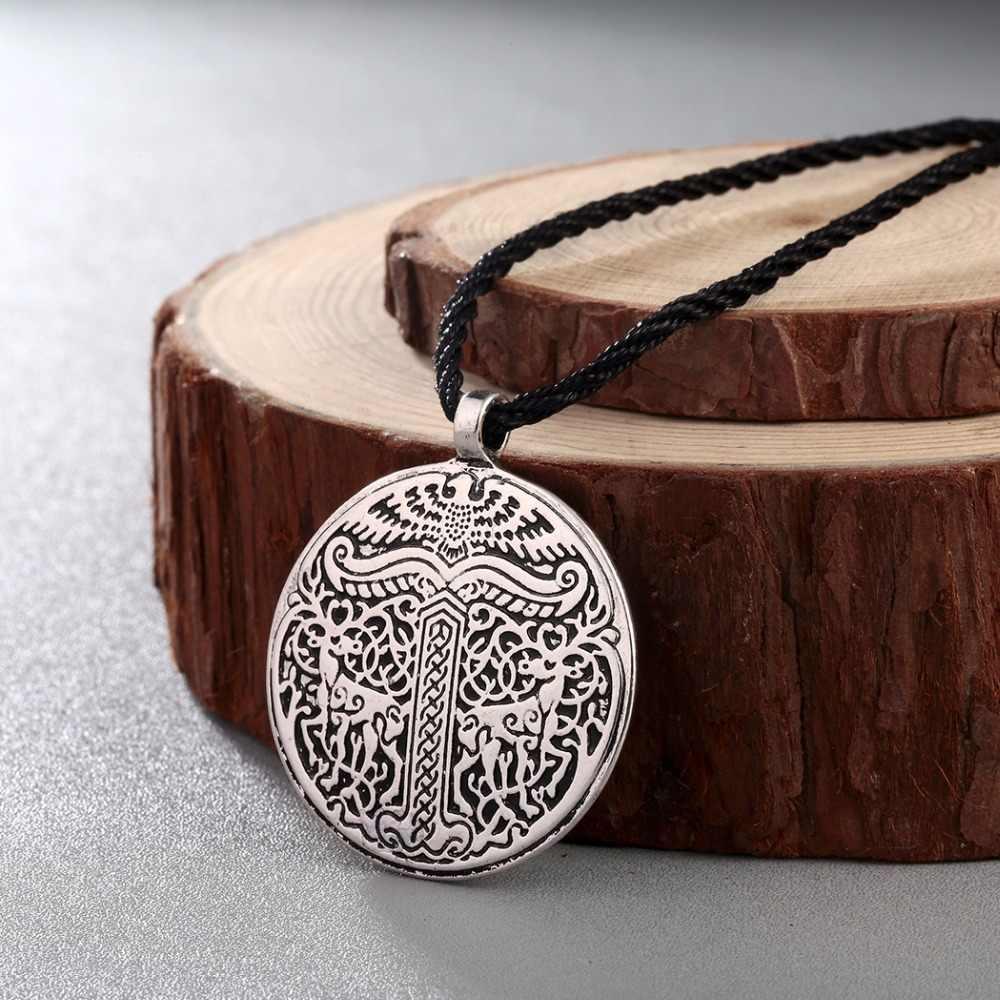 CHENGXUN 木のペンダントネックレスヴィンテージ北欧ジュエリー男性のコリアー