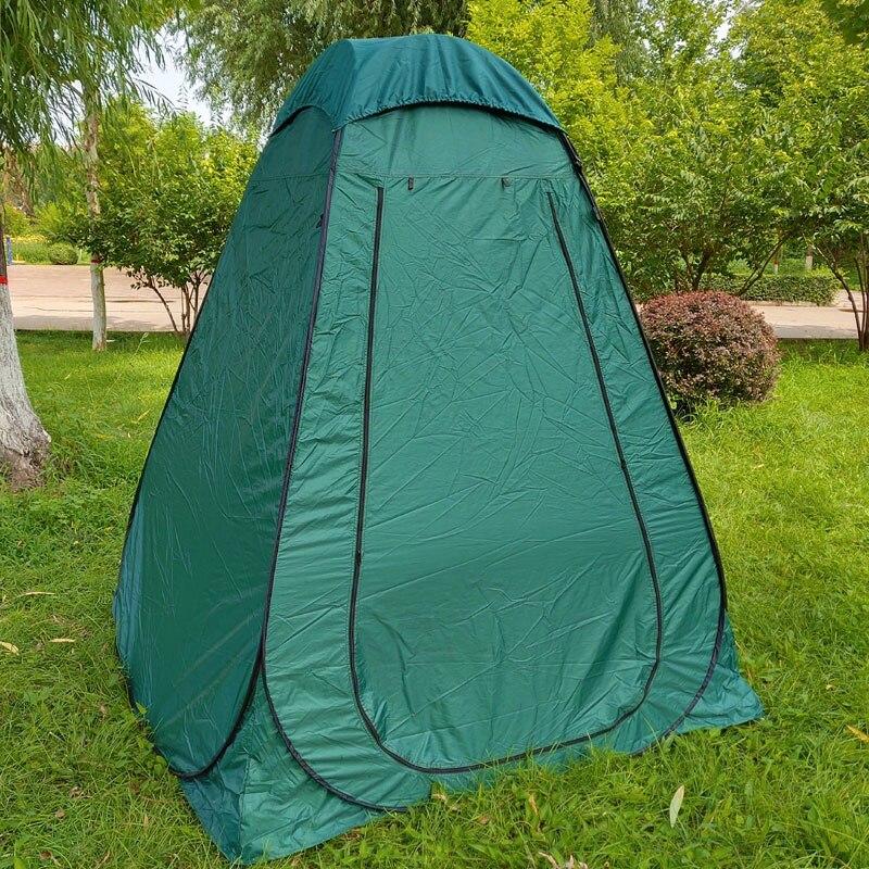 150*150*210 cm haute tente de pêche grande Portable intimité en plein air regarder Pop Up tente argent enduit toilette/douche/tente de change