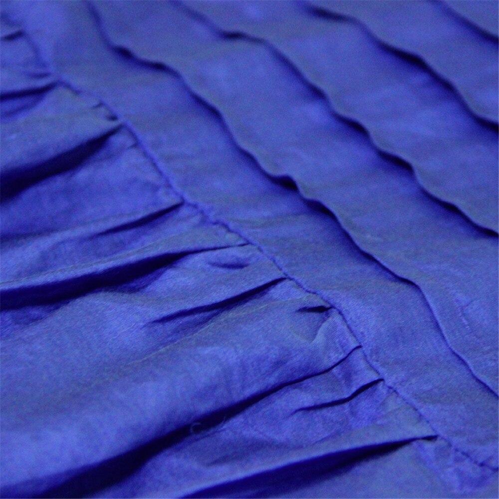 Vintage Women Slik Tassel Blouse 2019 Autumn Silk Women's Blouse Shirts Cotton Pullover Blouses Solid Dark Blue Top B9225 (17)