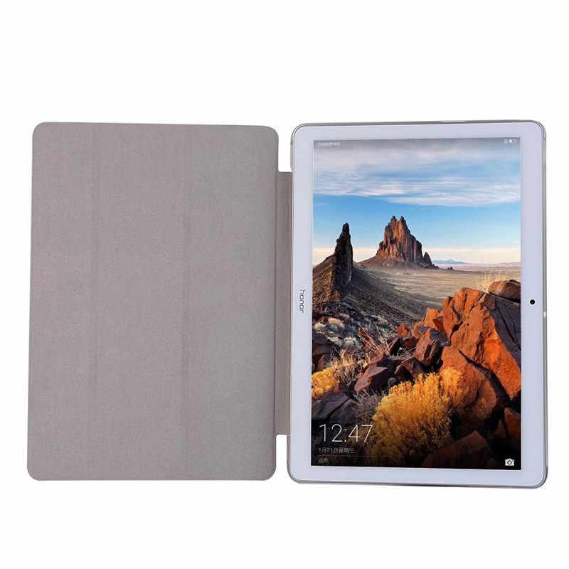 Ultra Ince Standı PU deri kılıf Huawei MediaPad T3 10 9.6 ''AGS-L09 AGS-L03 9.6 Inç Arka deri stant kılıfı Tablet