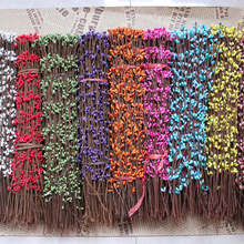 10unids paper wrap line artificial dry flower buds with mini pears, berries PIP rattan sugar cane stems, DIY material wreath40CM