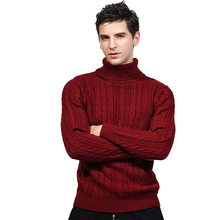 New 2017 Winter Turtleneck Sweater For Men Knitted Standard Wool Sweater Men Casual Thick Warm Winter Pullover Men Pull Homme