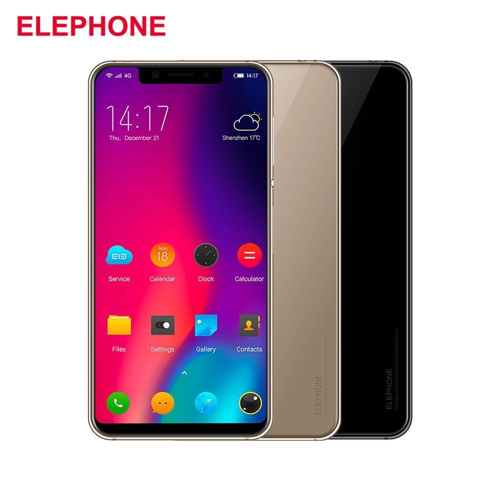 Elephone A4 4G Android 8.1 Mobile Phone 5.85''19:9 Smartphone Face Unlock Fingerprint 3GB 16GB Mobile Phone Quad OTG Smart Phone