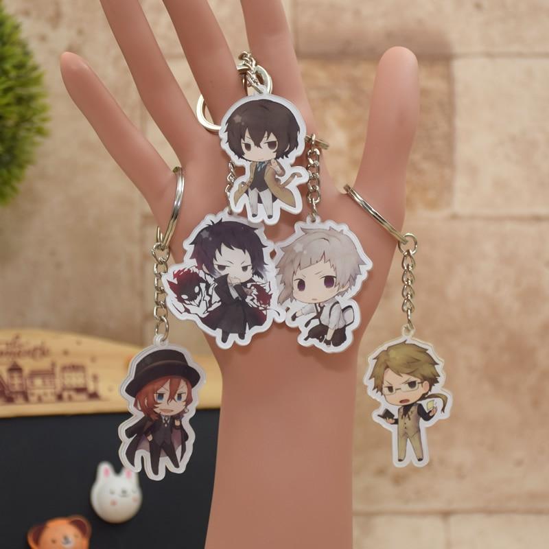 Anime Bungou Chiens errants Atsushi Nakajima Porte-clés Acrylique 6 Styles Pendentif Clé Accessoires XS-2