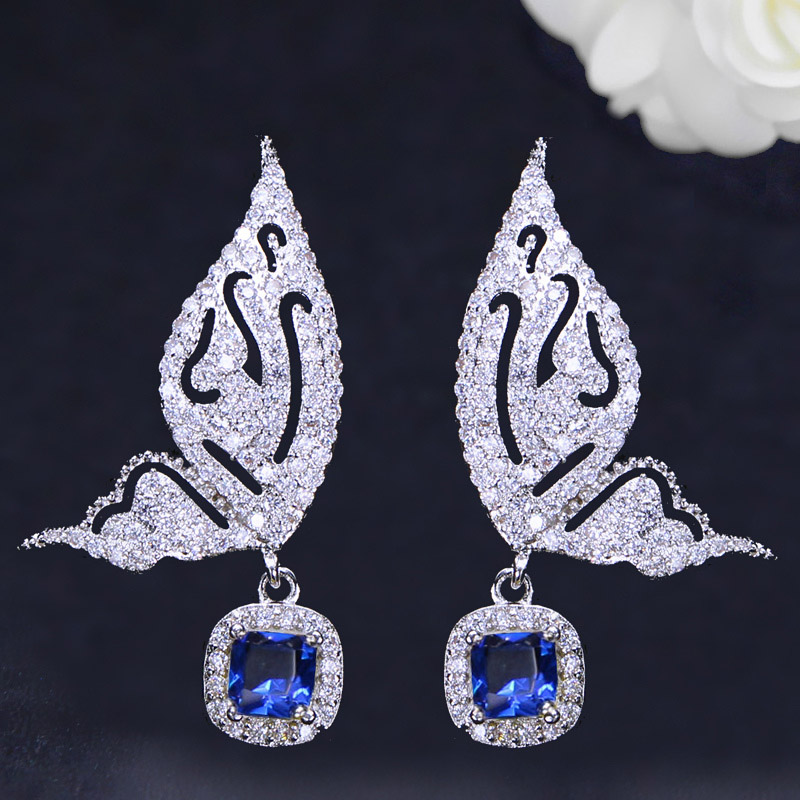 Butterfly Drop Earrings-