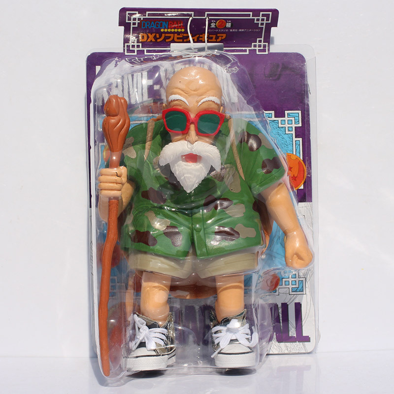 Free Shipping 25cm Master Roshi  Dragon Ball Kame Sennin PVC Figure Model Toy with Box free shipping anime dragon ball master roshi pvc action figure collection model toy 25cm orange new loose