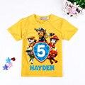 2-7year roupas Menino T-shirt Dos Desenhos Animados Da Pata Do Cão de Patrulha roupa dos miúdos meninas t-shirt de algodão verão roupas de bebê menino