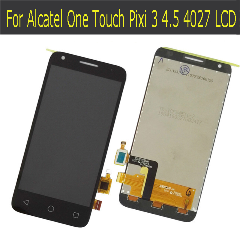 LCD DIsplay + Touch Screen Digitizer Assembly Replacement For Alcatel One Touch Pixi 3 4.5 4027D 4027X 4027A OT4027