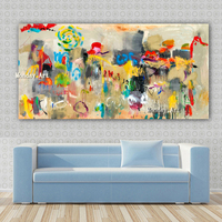 HandPainted Abstract Oil Painting wall decoration On Canvas Pop Art Modern Wall Picture For Living Room bedroom Home Decoration