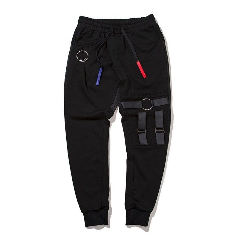 #1611 2018 High street sweat pants Casual Trousers men Hip hop pants men Sweatpants Pantalon homme slim Joggers Parkour Punk