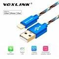Voxlink mais novo 8 pin fio de nylon trançado cabo do carregador usb de sincronização de dados para iphone 7 6 6 s plus 5 5S ipad mini 2 3 telefone móvel cabo