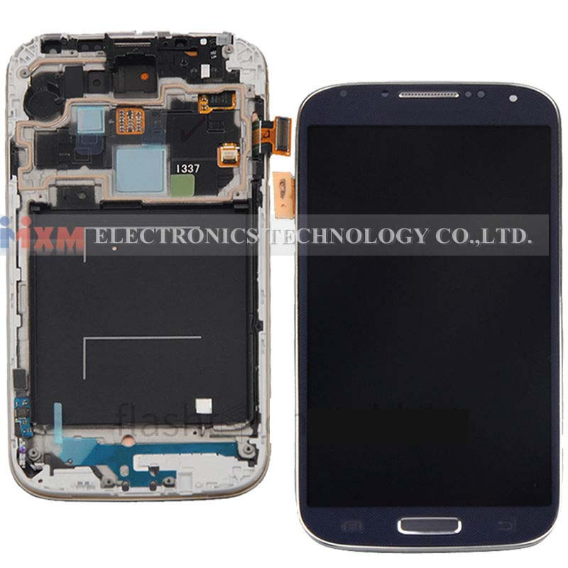 LCD Display Screen Digitizer Assembly+Frame for Samsung Galaxy S4 i337 M919 Blue