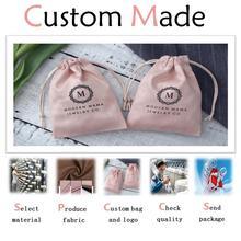 Изготовленные на заказ ювелирные изделия подарочные пакеты Подгонянный мешок шнурок в любом стиле/материал/размер/цвет/веревка печать индивидуальный логотип для сумок/коробок