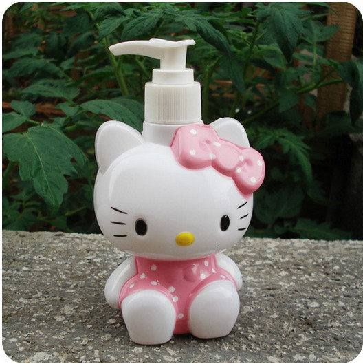 hello kitty cute storage jars Cat Bath liquid bottle Pink mason jar Children and women like