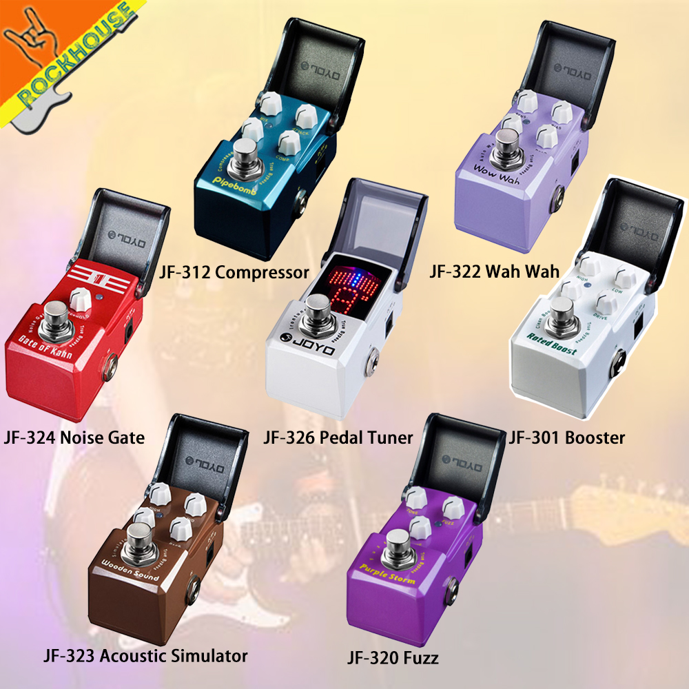 JOYO IRONMAN Guitar Effects Pedal Acoustic Gutiar Simulator Compressor Wah Wah Noise gate Pedal Tuner Analog Fuzz True Bypass aas 3 ac stage acoustic simulator guitar effect pedal aroma mini single pedals effects with true bypass