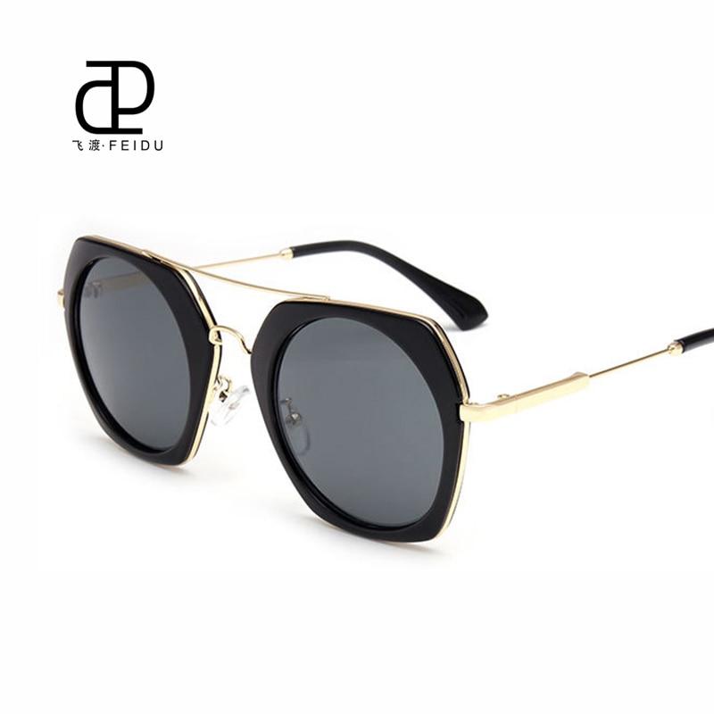 FEIDU Retro Round Sunglasses Women eye protection Fashion Sunglass Brand Designer Metal Sun Glasses Oculos de sol