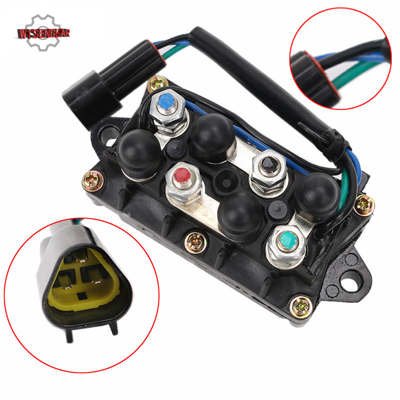 US $51 98 16% OFF|WISENGEAR Outboard Engine Power Trim Tilt Relay 2 4  Stroke Motors For Yamaha 25 40 50 60 75 90 150 225 230 HP CASE-in Personal