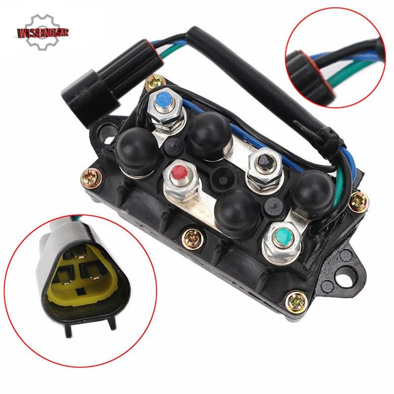 WISENGEAR moteur hors-bord garniture de puissance relais d'inclinaison 2 moteurs 4 temps pour Yamaha 25 40 50 60 75 90 150 225 230 HP