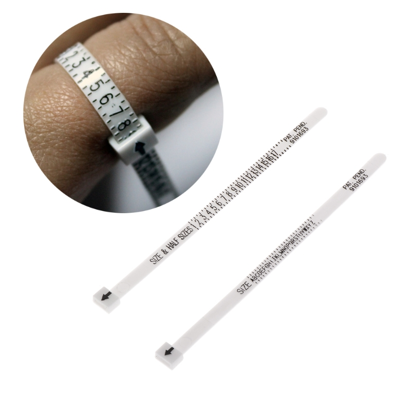 Ring Sizer Scale Gauge Finger Stick Mandrel Measurement Jewelry Tools Check Size