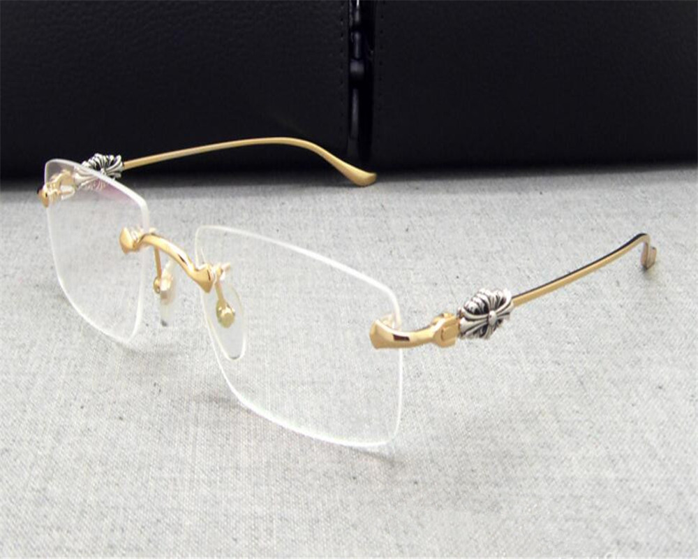 DOWER MICH Business Design Mode Retro Randlose Gold Silber Myopie ...