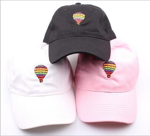 2016 Nouveau Baseball Chapeau Ballon Brodé Casquettes de Baseball Papa Chapeaux Noir Rose Blanc Snapback Caps