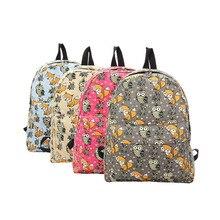 Новый Сова Фокс Рюкзак Модные женские школьные сумки для девочек Повседневная печать рюкзак сумки на плечо Mochila LXX9