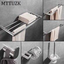 MTTUZK 304 стойка для банных полотенец из нержавеющей стали, вешалка для полотенец, полка для ванной комнаты, набор оборудования для ванной комнаты, крючок для халата, мыльница, туалетная щетка
