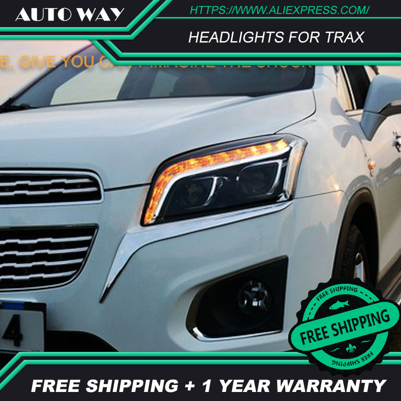 Free shipping Car styling LED HID Rio LED headlights Head Lamp case for Chevrolet Trax Bi