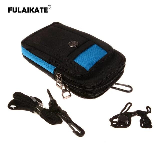 "FULAIKATE 7"" Universal Phone Bag for Xiaomi MI Max2 Strap Waist Pouch for Samsung Galaxy MEGA 6.3 Sports Shoulder T3 Pocket Case"