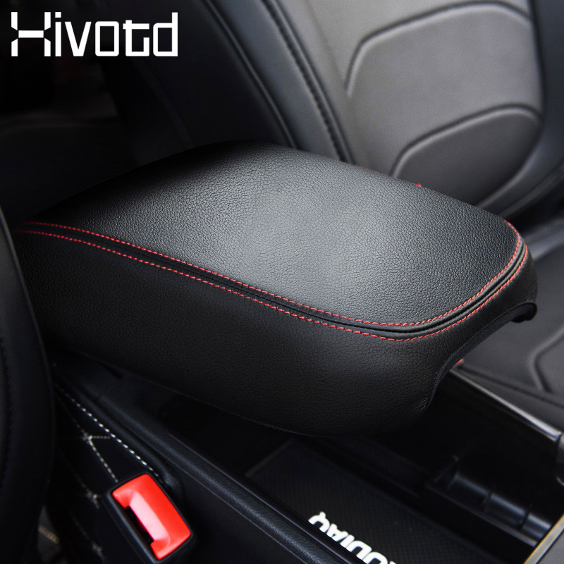 Hivotd For Skoda Kodiaq 2017 2019 Car Armrest Box Protection Cover Center Console PU leather Decoration Pad Interior Accessories in Armrests from Automobiles Motorcycles