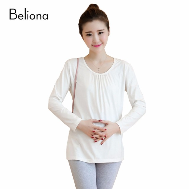 0ab0ab87ca8a6 2017 New Plus Size Maternity T-shirts for Pregnant Women Solid Color Slim  Pregnancy T