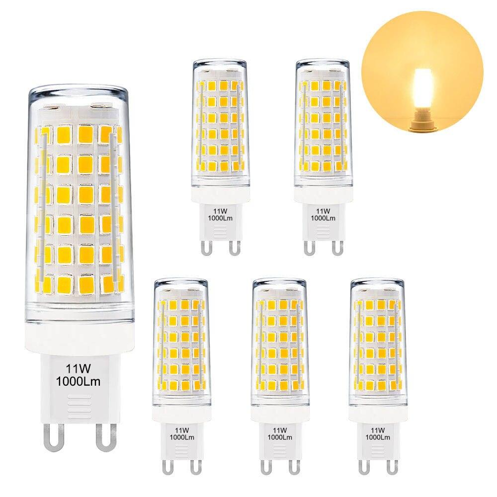 G9 GU9 LED Capsule Light Bulb 11W Small Corn Light Bulb Warm White 3000K AC220-240V Much Brighter than 60W G9 Halogen Light BulbG9 GU9 LED Capsule Light Bulb 11W Small Corn Light Bulb Warm White 3000K AC220-240V Much Brighter than 60W G9 Halogen Light Bulb