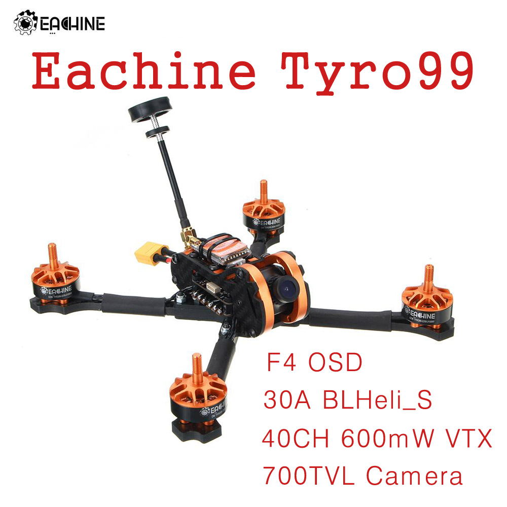 Eachine Tyro99 210mm F4 OSD 30A BLHeli_S 40CH 600mW VTX 700TVL Camera Brushless DIY Version FPV Racing RC Drone Quadcopter eachine ts840 5 8g 40ch 600mw fpv av transmitter module