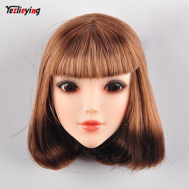 Tianyi Beauty Red Scarf 1 6 Female Brown Short Hair Head Carved Eyes