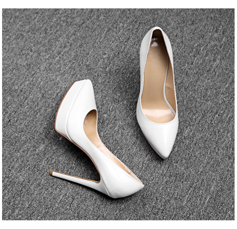 2018 Women Pumps Patent Leather Wedding Shoes Sexy Pointed Toe Platform High Heels Spring Summer Shoes Woman Nude Red Heels цена