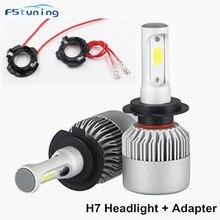 цена на FSTUNING led H7 headlight bulb h7 led kit retainer holder for Volkswagen golf 5 car led headlight H7 adapter for VW MK2 jetta