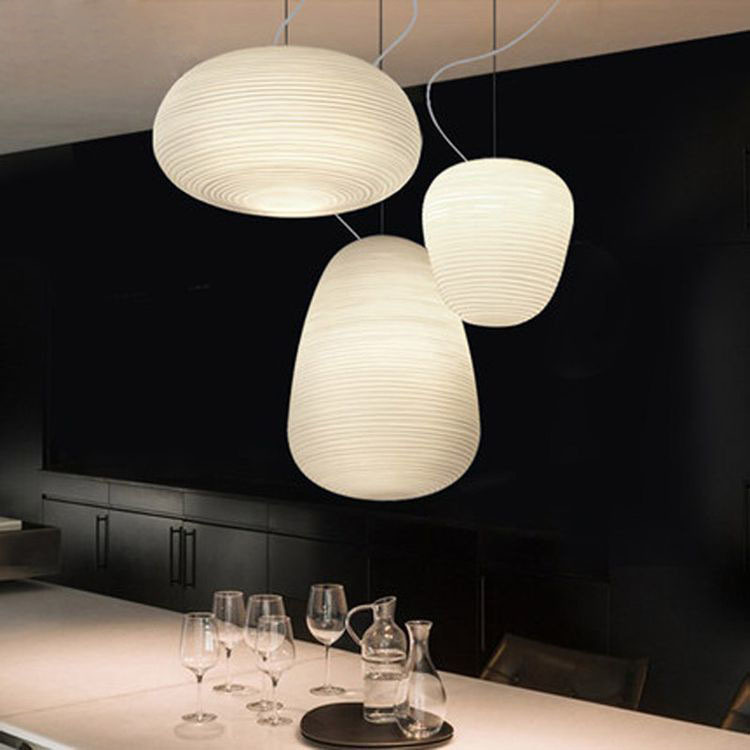 Simple Screw thread Glass Ball Round Chandelier New Designer Nordic Style Restaurant LED Pendant Lamp Frosted Glass Art|Pendant Lights|Lights & Lighting - title=