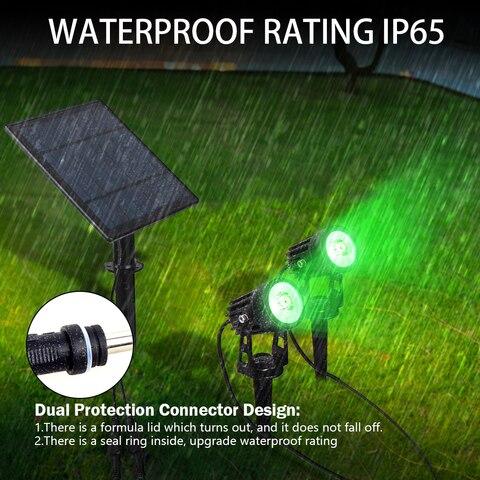 extensivel ao ar livre verde holofotes ip65