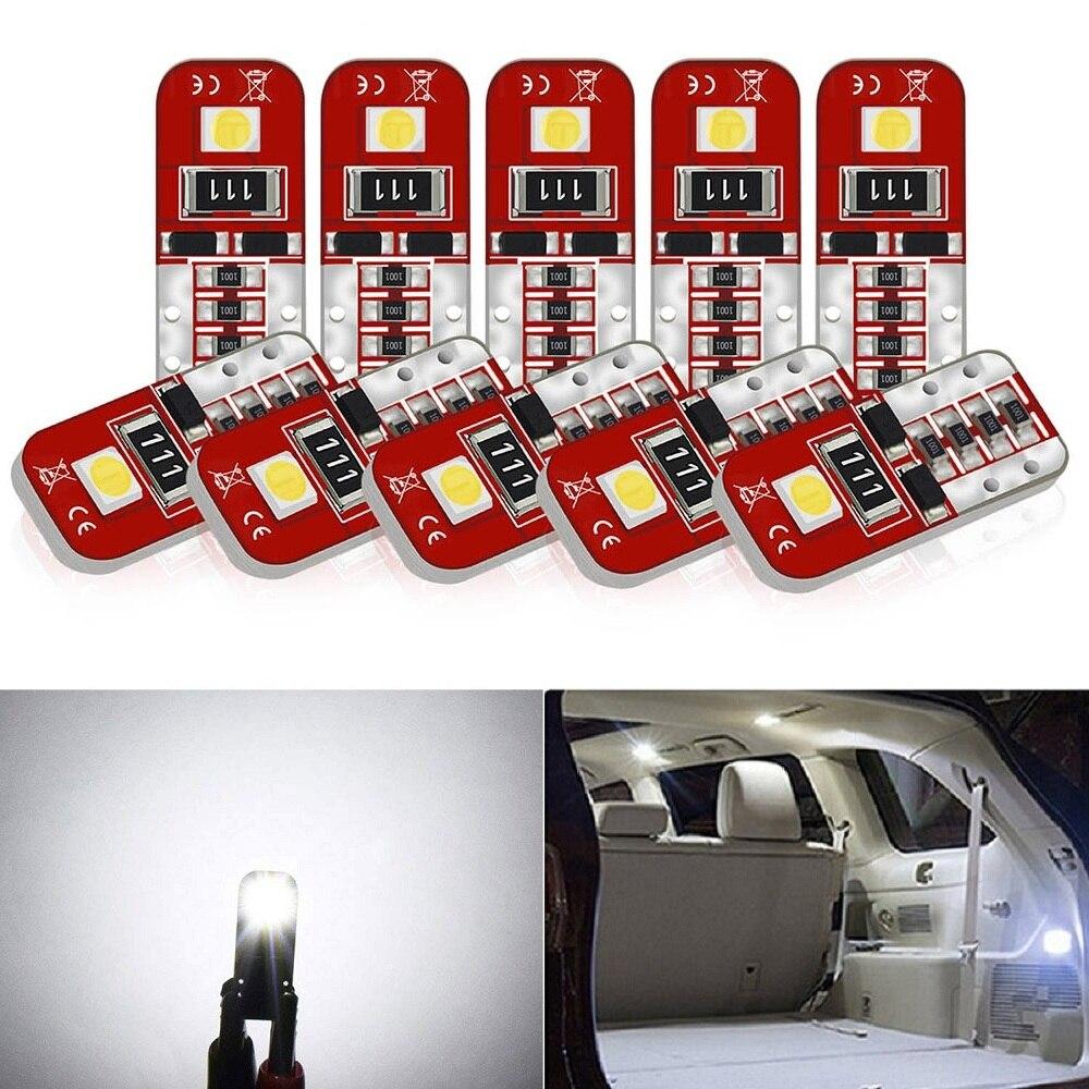 10x T10 Led W5W Car Interior LED Bulb Canbus For Peugeot 307 206 308 407 207 3008 2008 406 208 508 301 408 306 106 607 5008 205