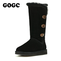 GOGC 2016 New Female Winter Boots Snow Boots Warm Women S Winter Boots With Wool Fur