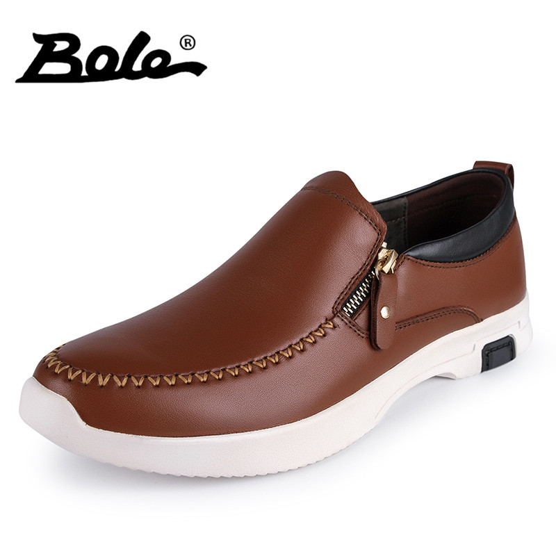 BOLE Handmade Moccasins Men Genuine Leather Shoes New Design Round Toe Leisure Breathable Shoes Men Slip on Men Flats sinoextreme italian leather handmade crocodile embossed men loafer shoes leisure shoes slip on shoe luxury breathable men shoes