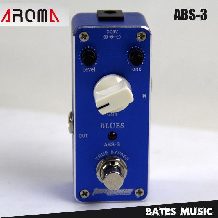 MINI Effect Pedal/Aroma ABS-3 Blues AC/DC Adapter Jack  True bypass mini effect pedal aroma adt 3 distortion ac dc adapter jack true bypass guitar pedal
