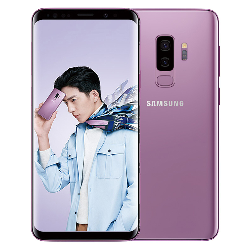 Samsung Galaxy S9 Plus S9+ G965U Original Unlocked LTE Cell Phone Octa Core 6.2 Dual 12MP 6GB RAM 64GB ROM NFC Snapdragon 845 image