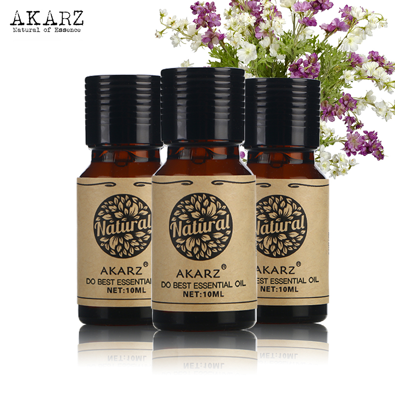 Lavender Rose Neroli Essential Oil Sets AKARZ Famous Brand For Aromatherapy Massage Spa Bath Skin Face Care 10ml*3