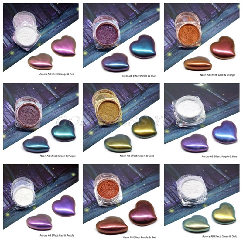 9 Colors Mirror Pearl Powder Epoxy Resin Glitter Chameleon Pigment Resin Jewelry Making Handmade Soap Coloring Powder