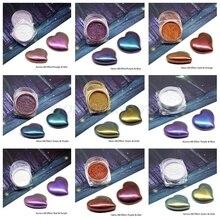 9 цветов зеркальный жемчужный порошок эпоксидная смола блеск Хамелеон пигмент смола для изготовления украшений вручную мыло окрашивающий порошок